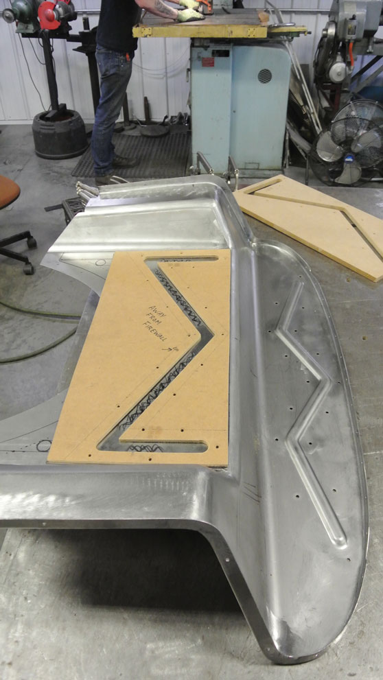 08 Cutouts for new firewall on a 34 Ford Five Window Coupe hotrod