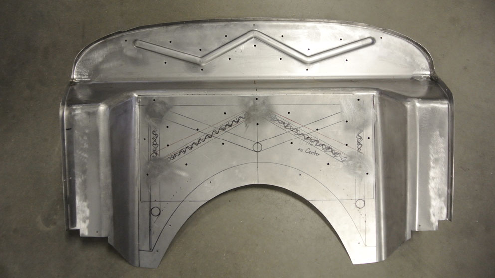 09 1934 Ford Five Window Coupe New Replacement Firewall for LS Blown Motor
