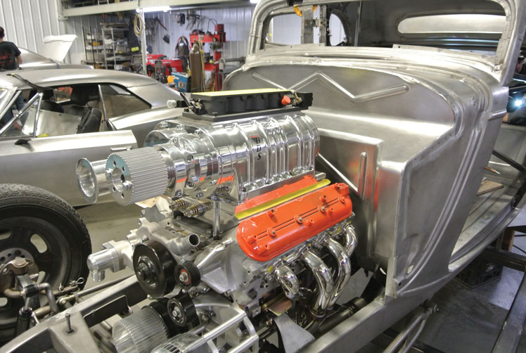 15 Custom fitted LS engine into a Classic Ford Five window coupe Custom with Texas Speed Engine