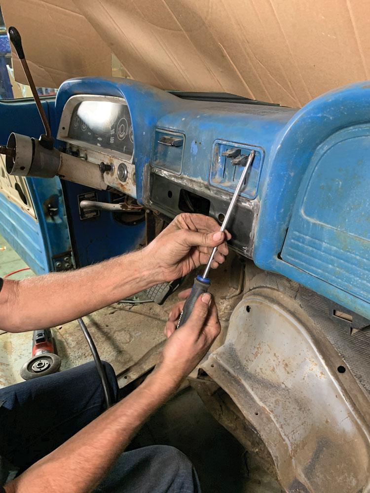 reinstalling-dash-components-1966-Chevy-C10s