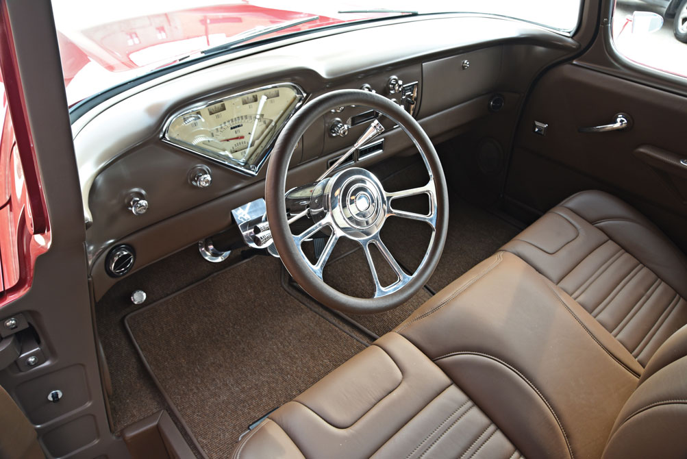 007 Completely custom interior with Classic Instruments gauge, Vintage air retro ac system, and Flaming River steering column