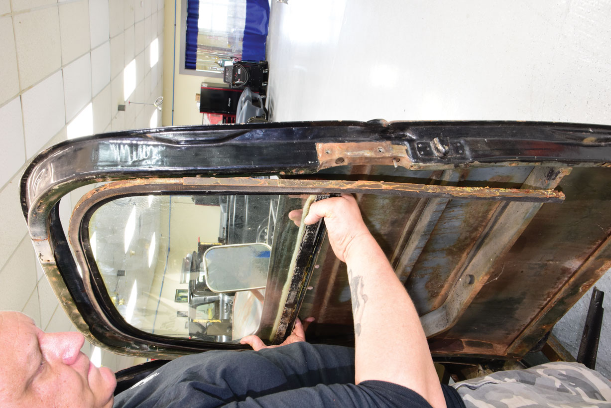 007 Removing deaminated window from a 1946 Chevy Truck