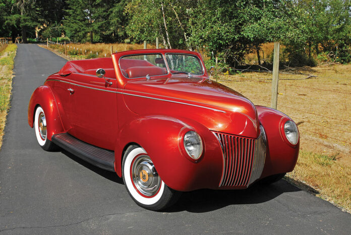01 Ragtop Hot Rod Restoration 1939 Ford Convertible two tone tangerine and candy orange paint