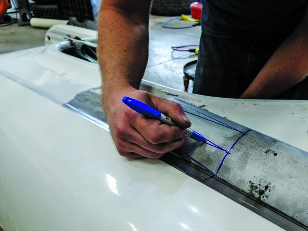 014 Marking up custom taillight housing for new Fleetside style led taillights