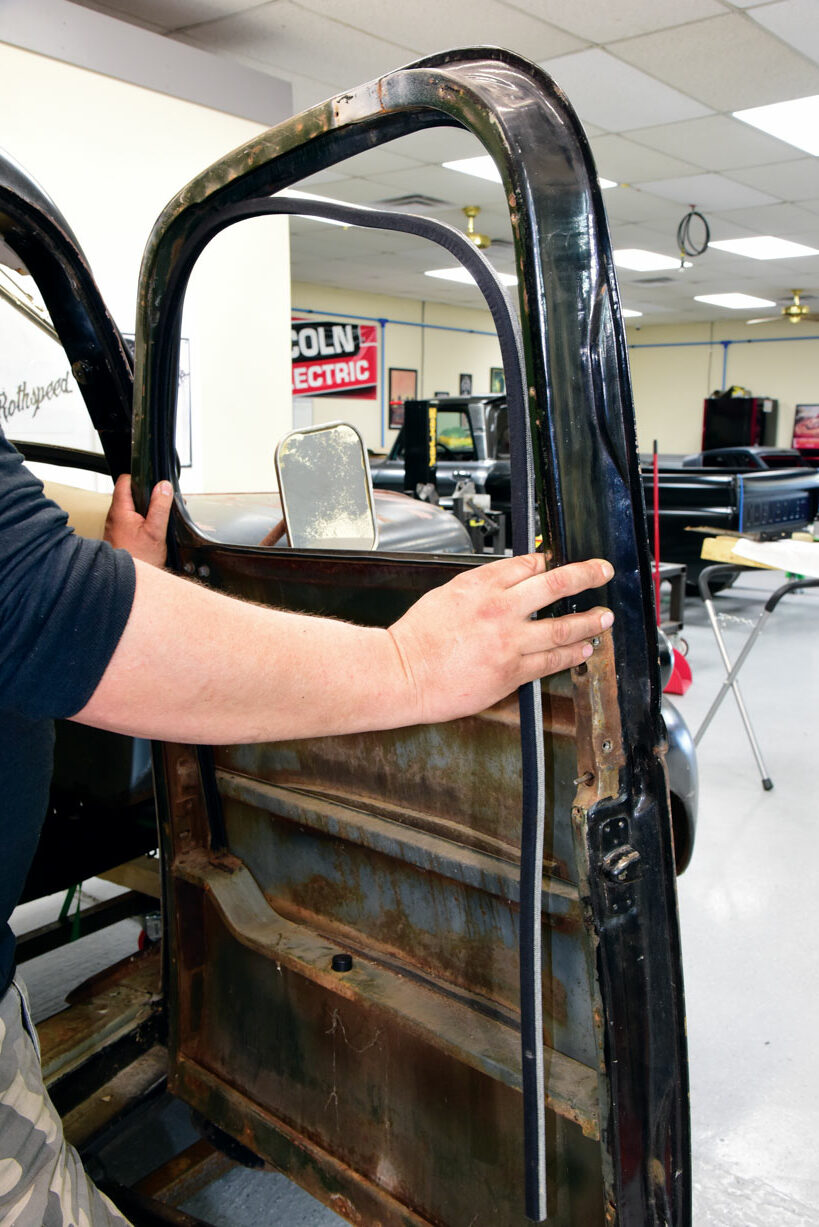 015 Window frame for a classic chevy pickup truck
