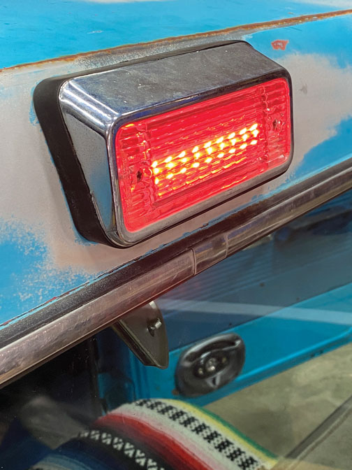 018 Red third brake light turned on the C10 with Brothers Trucks