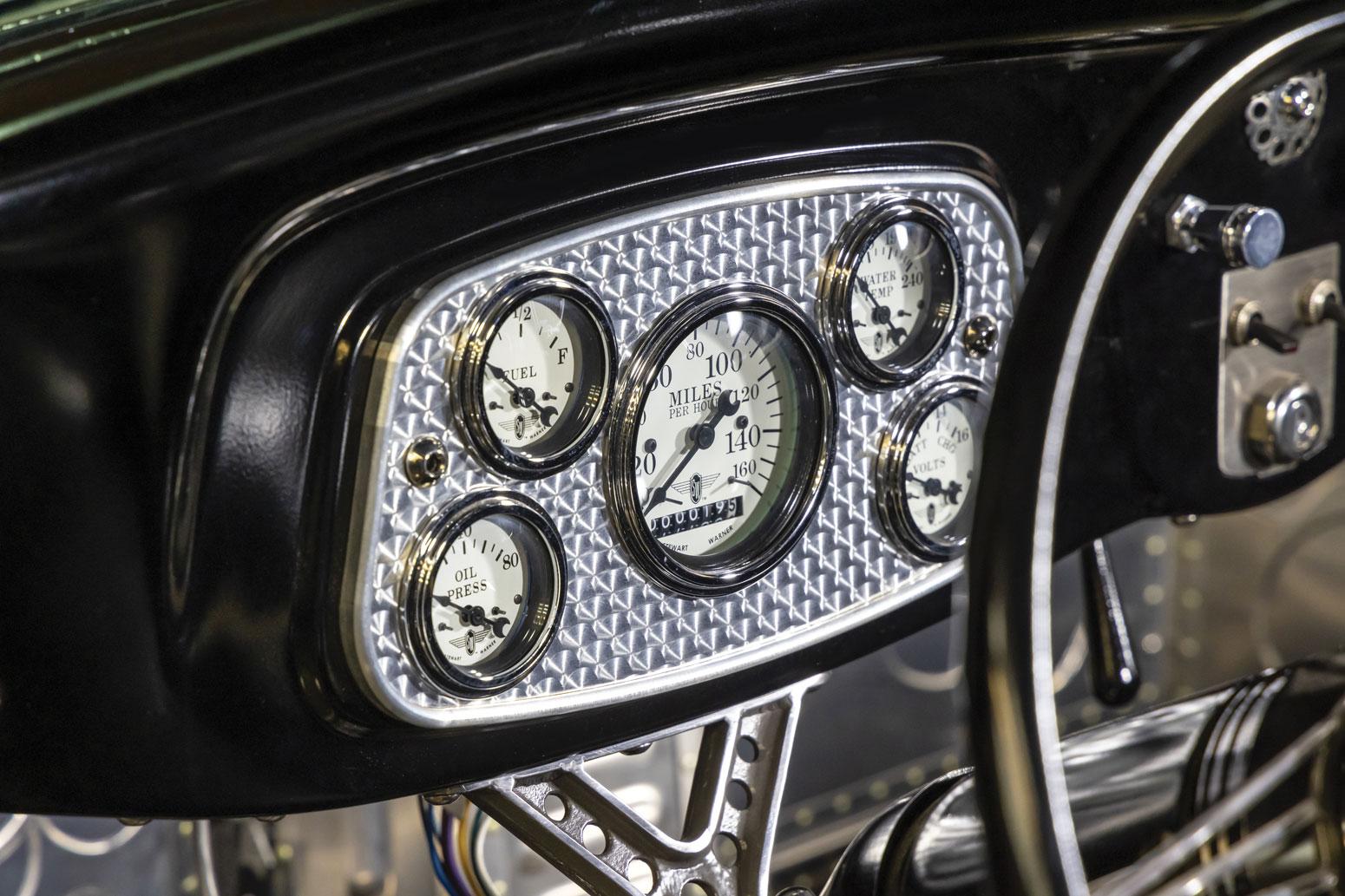 12 1934 Ford Five Window Coupe Stewart-Warner Wings Gauges