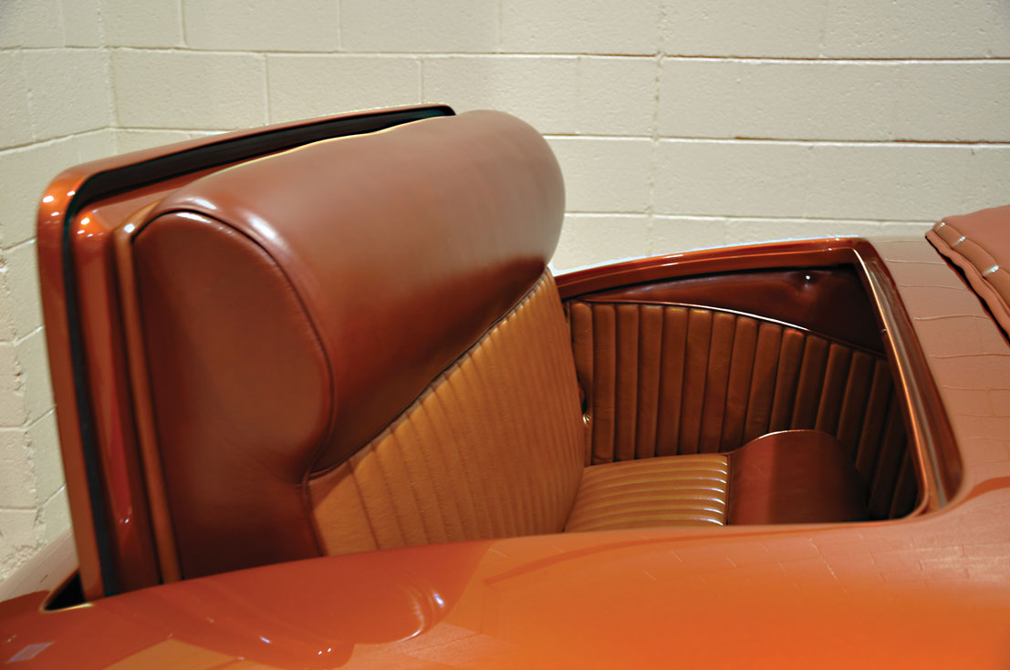 12 1939 Ford Deluxe Convertible Coupe custom two tone leather seats on this street rod