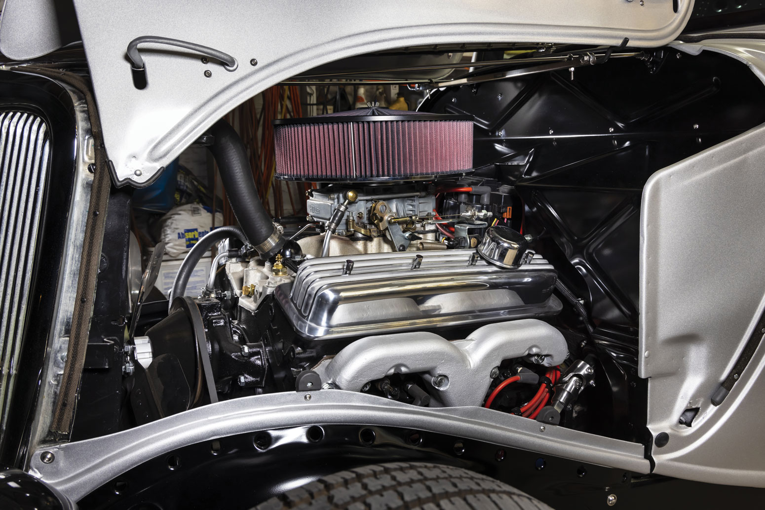 22 1934 Ford Highboy Coupe with a Chevy 350 Crate Engine
