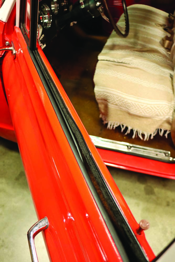 003 old window rubber on a Chevy C10