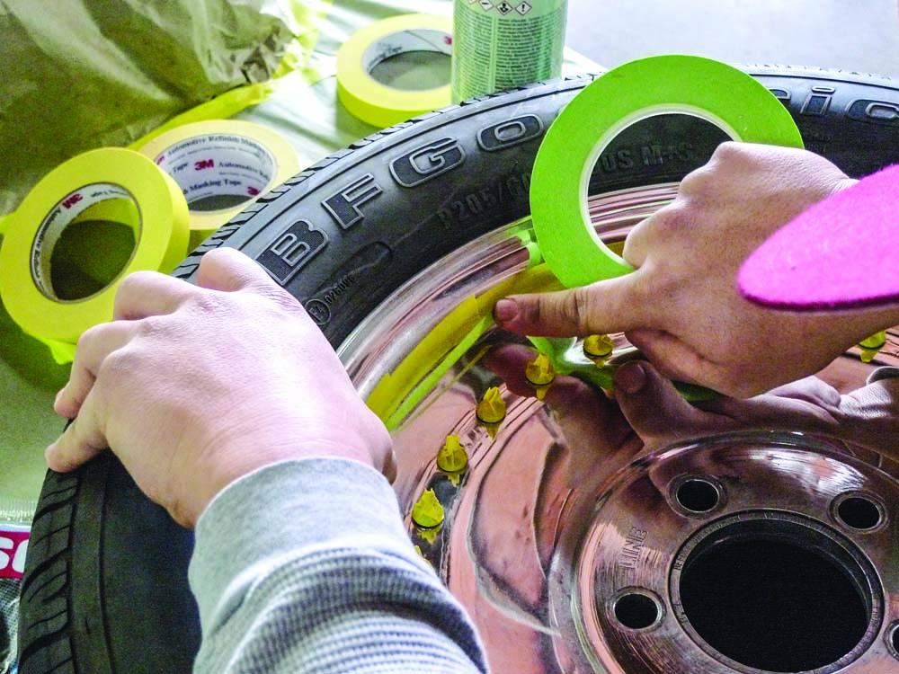 006 Masking and Polishing 3M tape for custom wheels