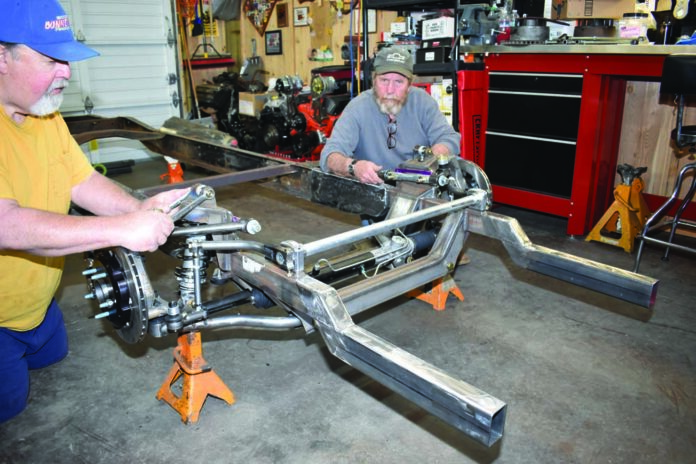 01 G-comp front suspension on a 1955 Ford F-100