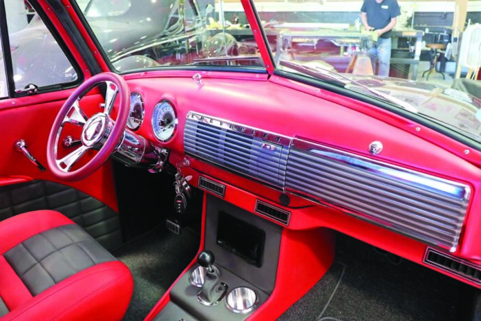 01 Hot Rods By Deans sub dash panel on a 1957 Chevy Truck