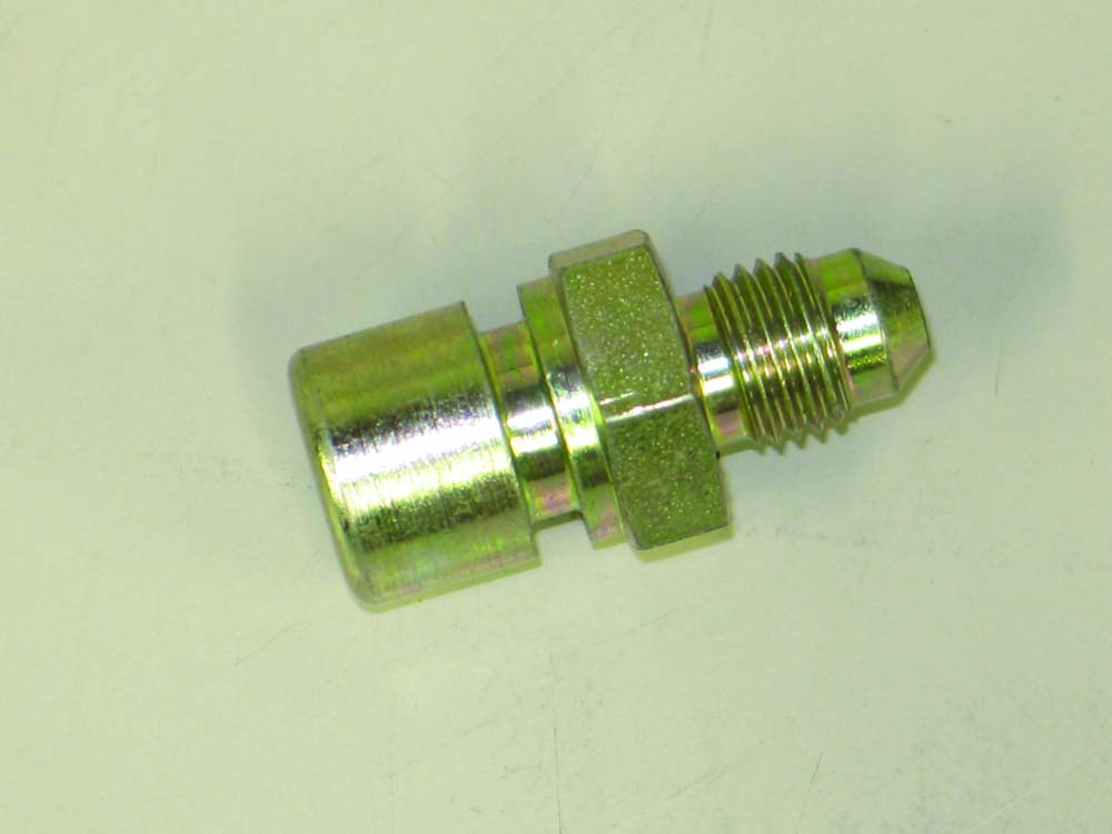 017 Brake fitting with double flared end brake line