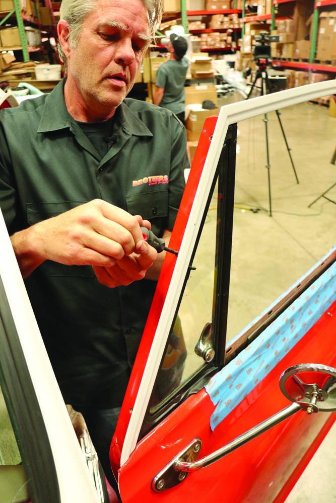 018 quarter glass window reinstalled on a C10