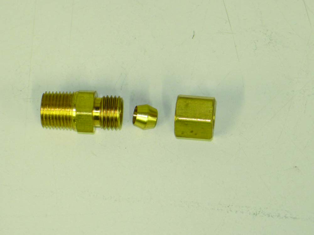 020 Compression fittings for oil pressure or vacuum line
