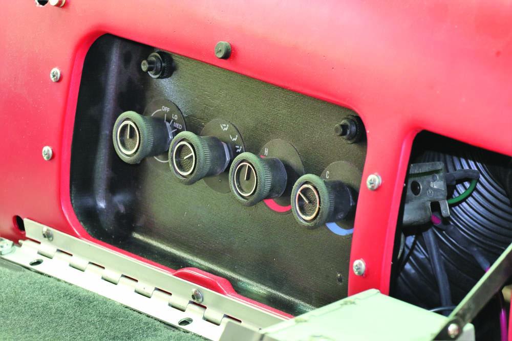 04 AC control panel hidden for vintage truck