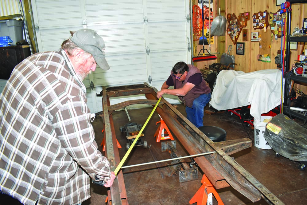 05 Squaring the frame on a 1954 Ford F-100