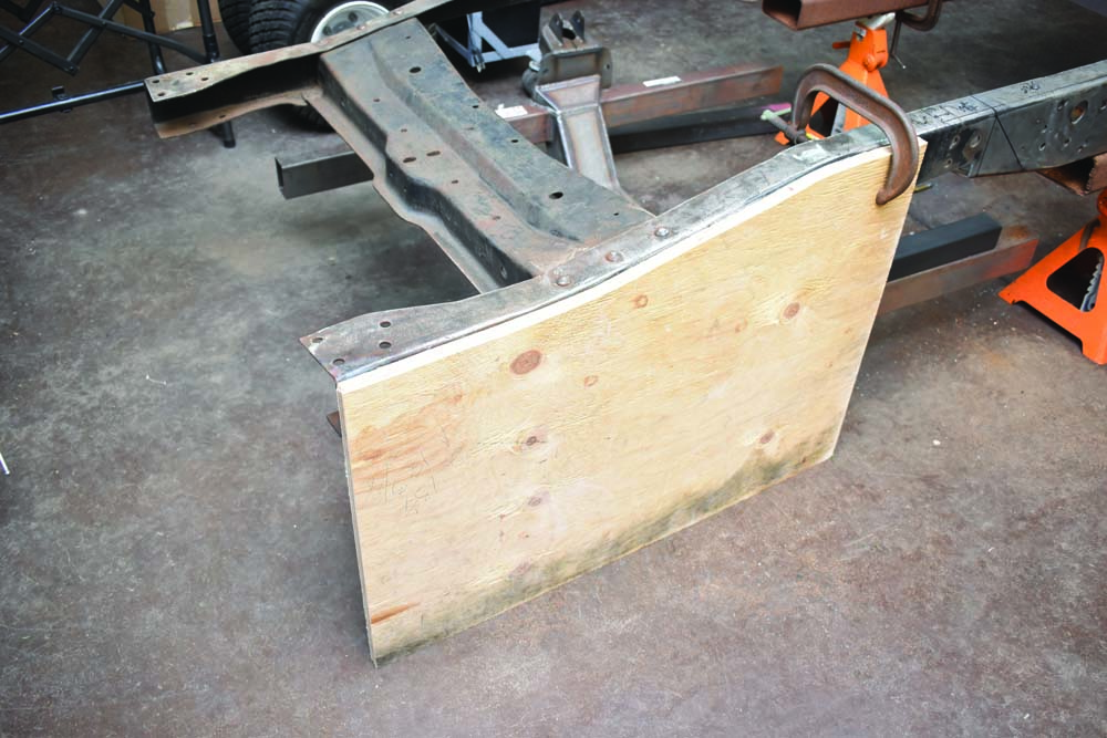 07 1954 F-100 frame drop for the radiator core support