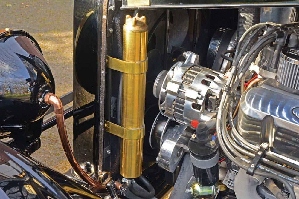 09 Brasswork brass radiator custom with Vintage Air