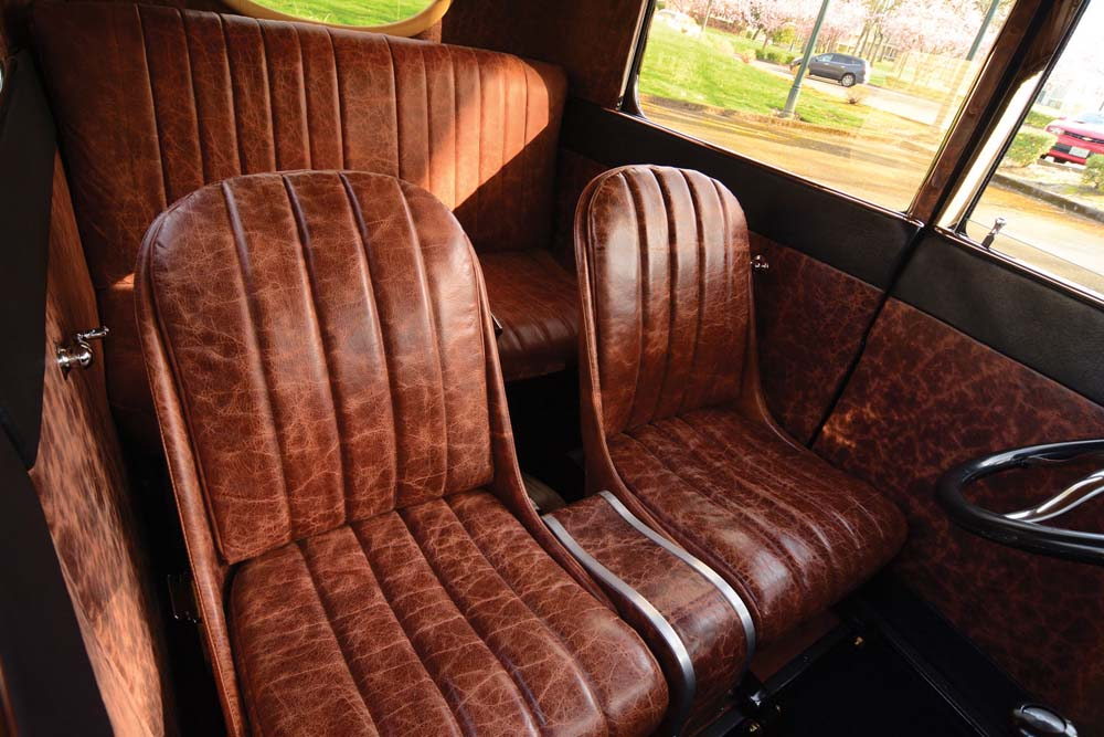 11 Antique whiskey and Aztec black buffalo leather for 1926 Ford Tudor
