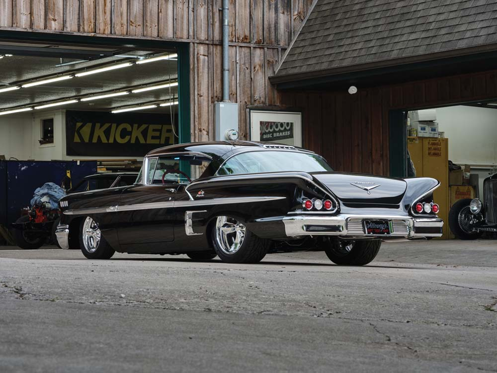 12 1958 Chevy Impala built with MSD distributor and adjustable coilover shocks