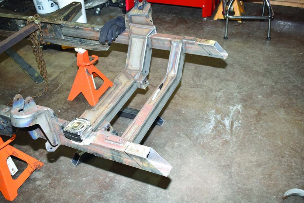 14 Subframe cut to extend the correct height