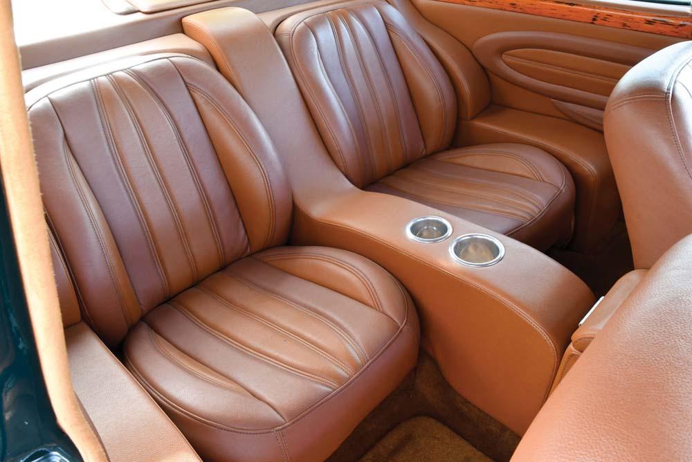 15 Lincoln LS cognac vinyl leather seats custom interior