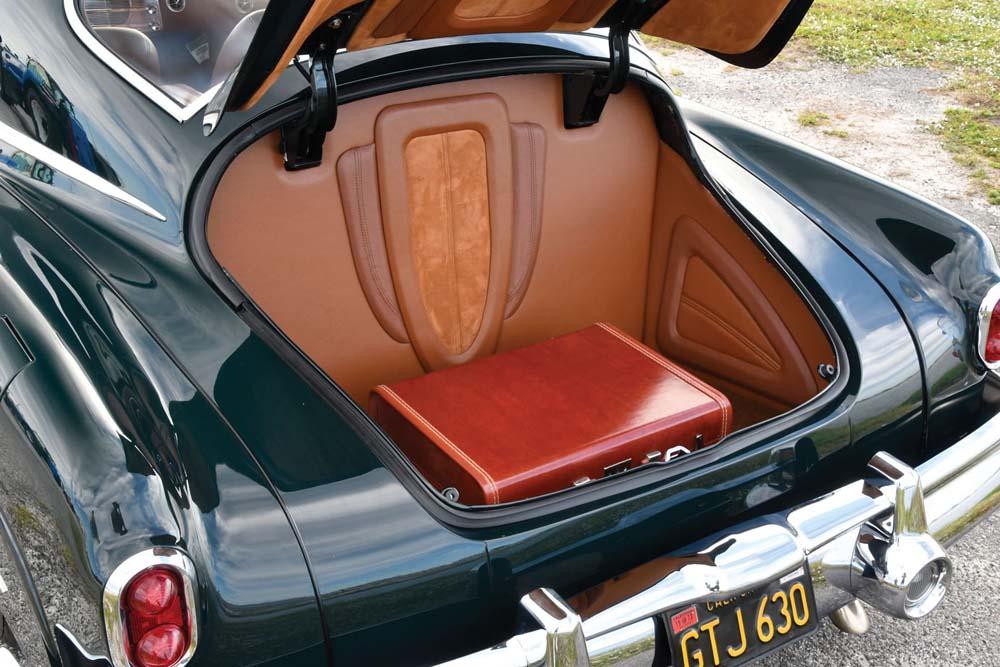 16 1950 buick Sedanette trunk with custom interio from Merritt Auto Repair