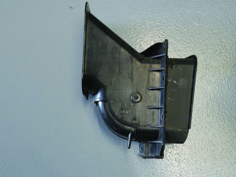 18 1967 Ford F100 Fresh air vent located on the passenger side kick panel