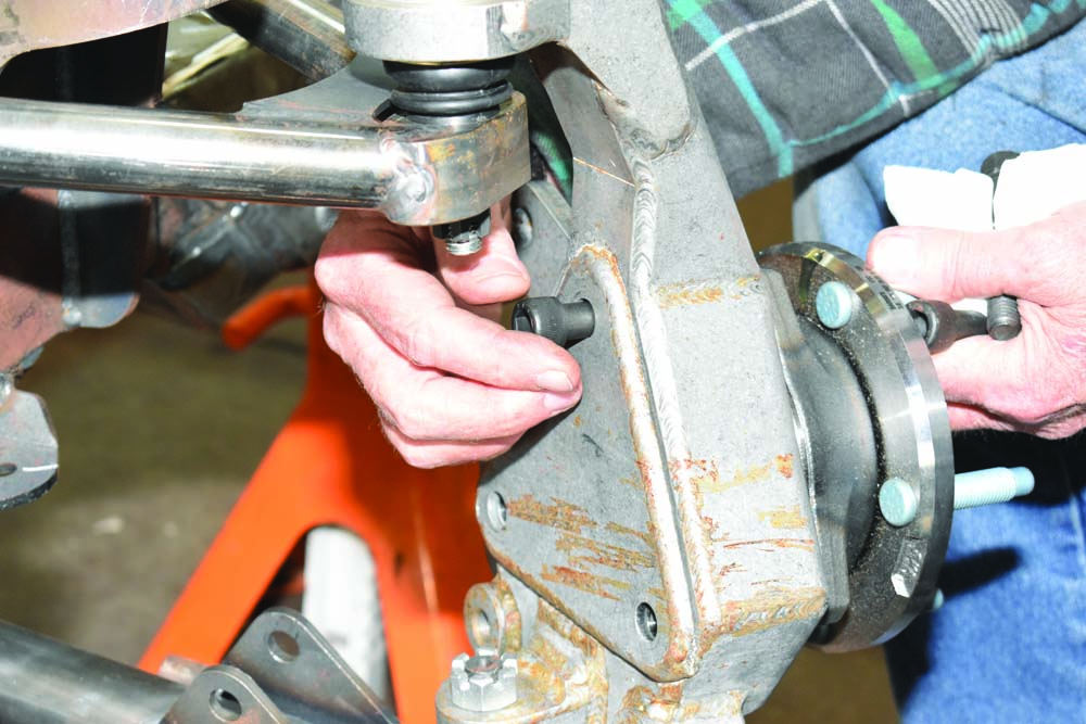 22 Three scoket head cap screws front wheel hub and bearing assembly