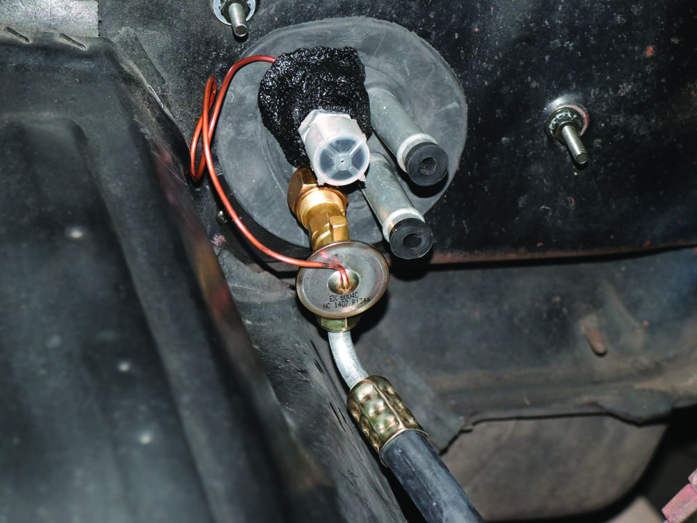 25 Glove box removed to install new Hurrican ac system on Ford F100