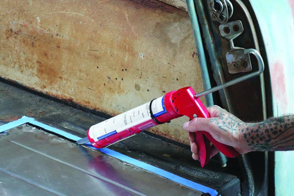 27 seam sealer on top of the spot welds