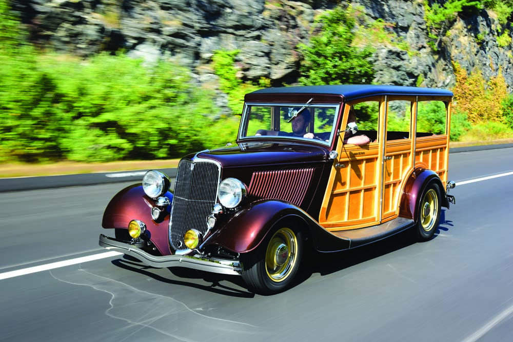 01 1933 Ford Woodie Station Wagon Hot rod