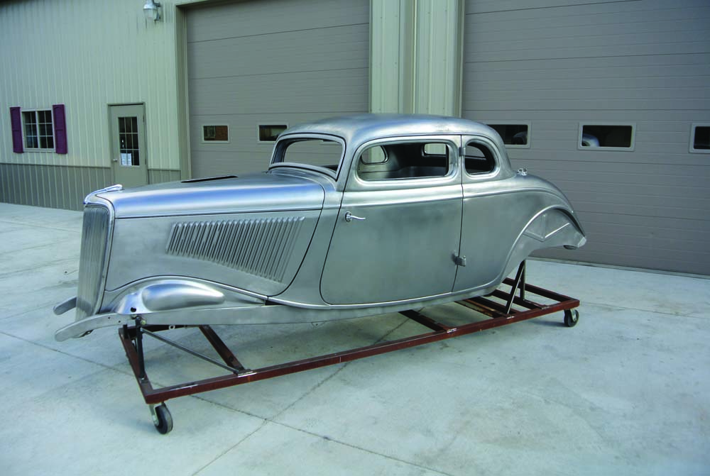 01 1934 Ford 5-Window Coupe aluminum finish