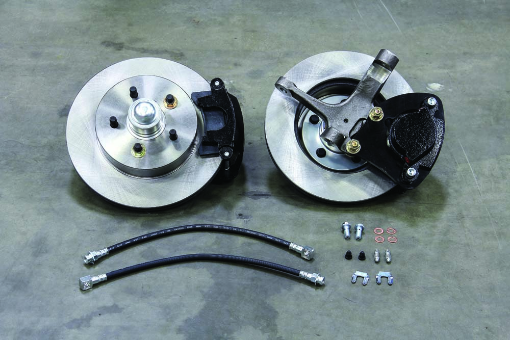 02 Mustang II modular spindle wheel brake kit from Classic Performance Products
