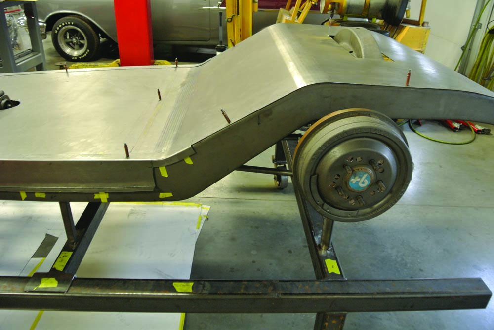 03 Custom fabricating 34 Ford 5-Window Coupe hot rod from BBT