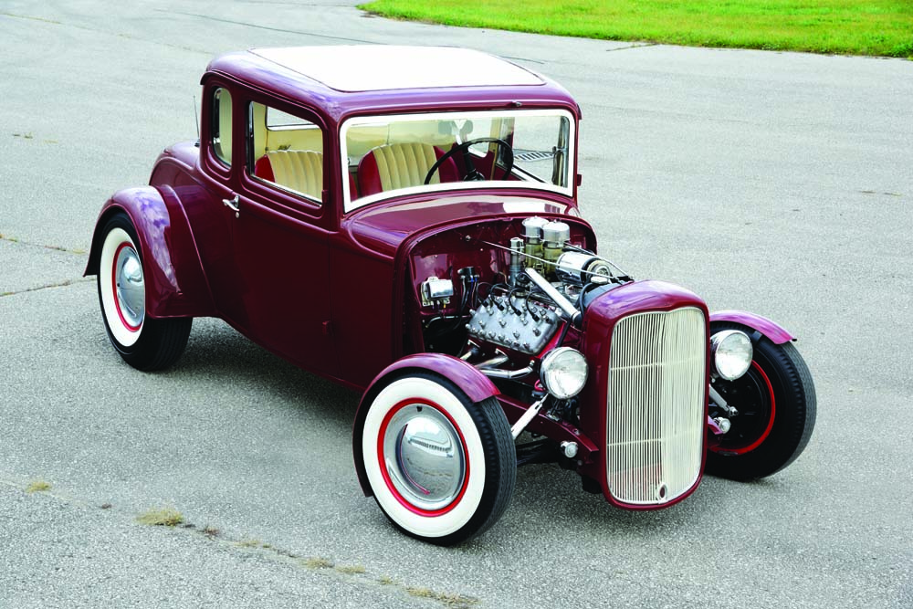 07 1932 Ford Coupe returned to former glory, on Ford steelies rocking an 1942 Ford Flathead V8