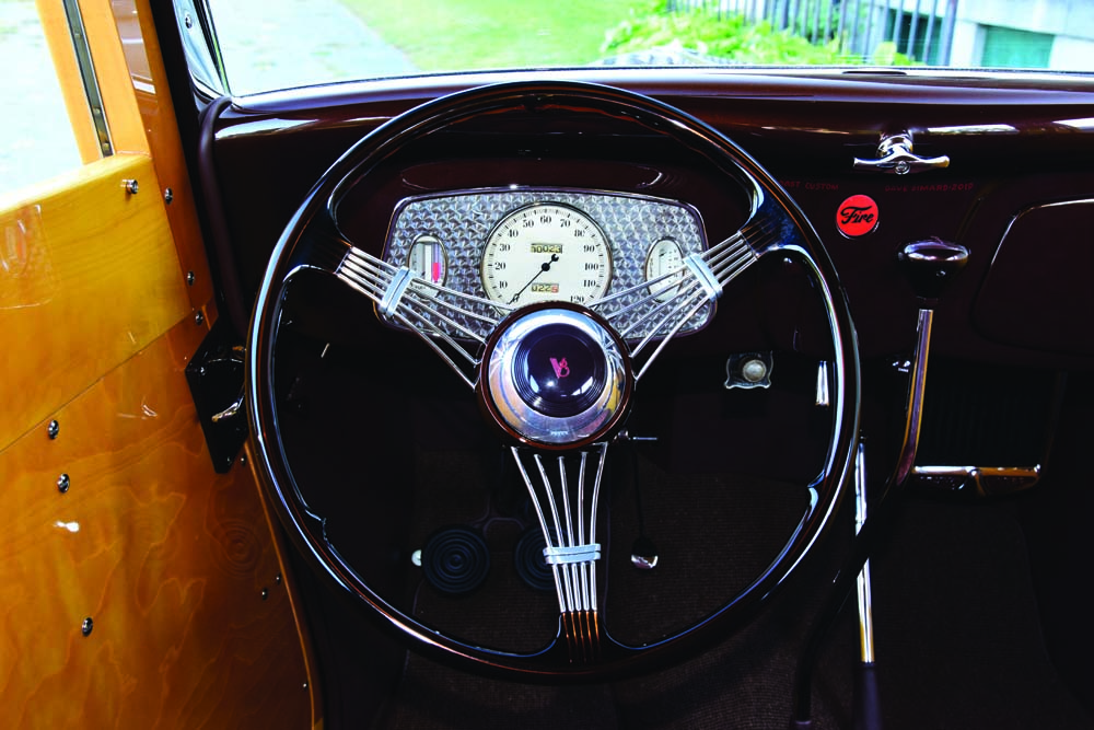 07 Custom Steering Wheel Ford Banjo wheel and original dials restored by Instrument Specialities