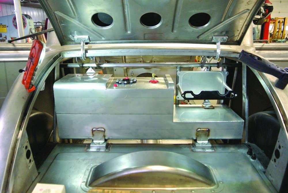 12 Custom fabricated fuel tank and custom battery mount