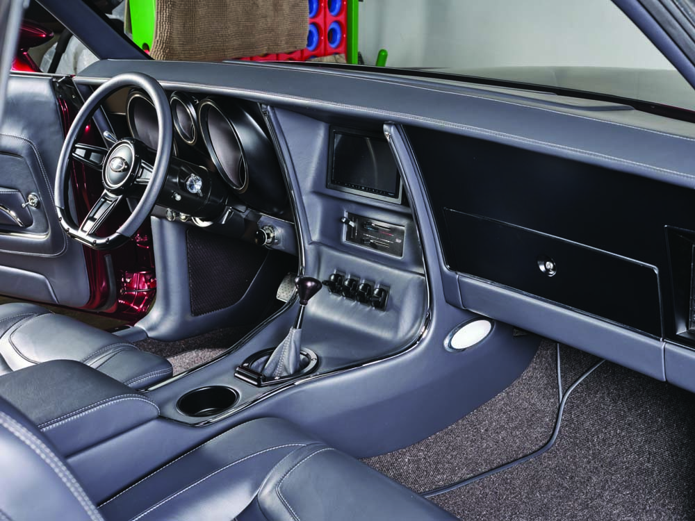 12 Custom interior from Stitch by stitch with Dakota Digital gauges wired together by American Autowire