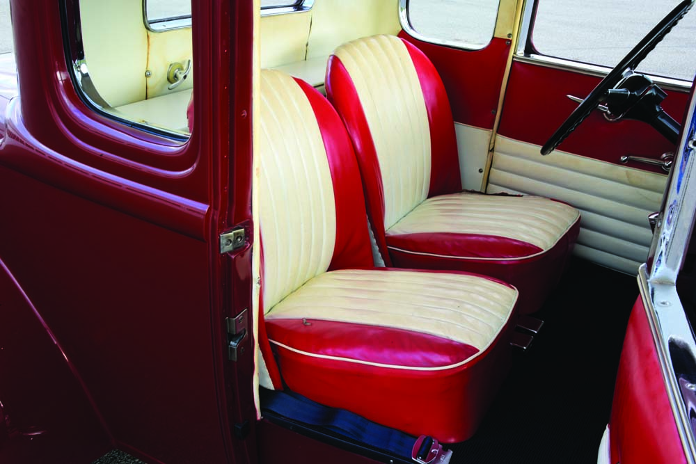 13 Morris Minor Seats with a custom interior and vintage steel built hot rod