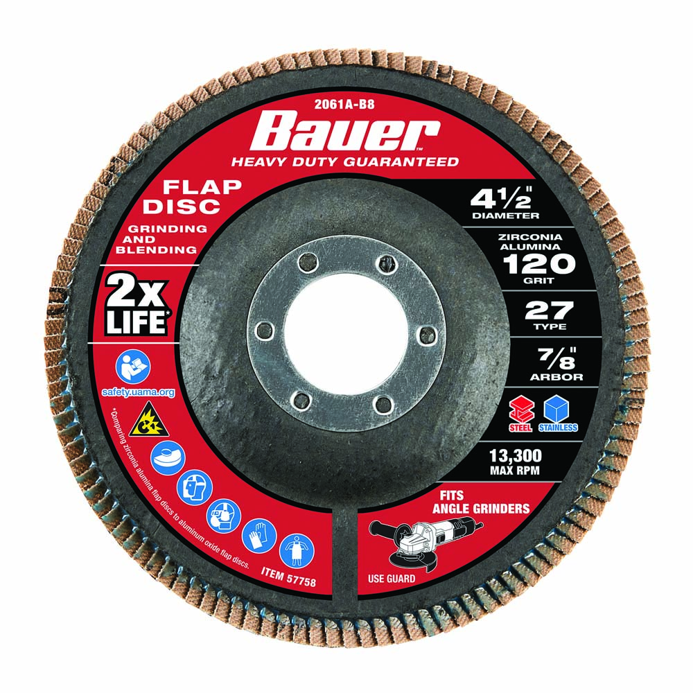 14 120 grit flap replaceable disc from Harbor freight