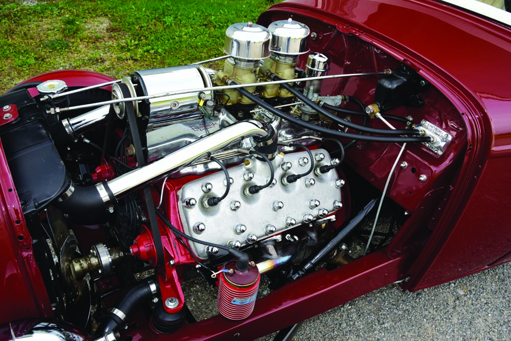 14 1942 Ford Flathead V8 with Chrome air cleaners and stock ignition system