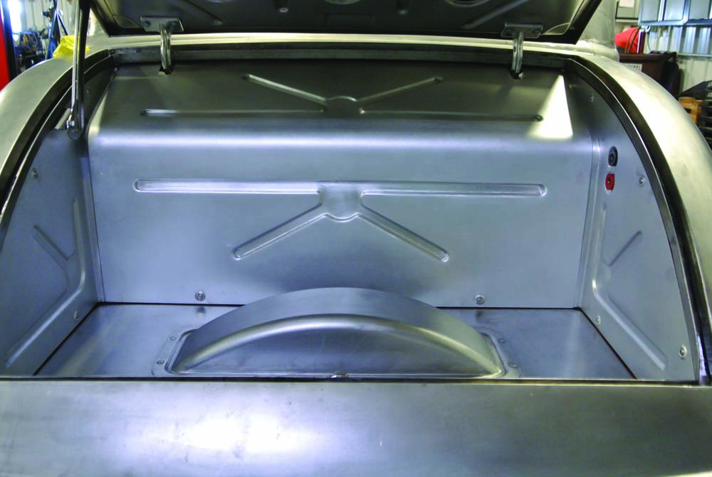 14 Trunk interior panels were fabricated for Optima battery