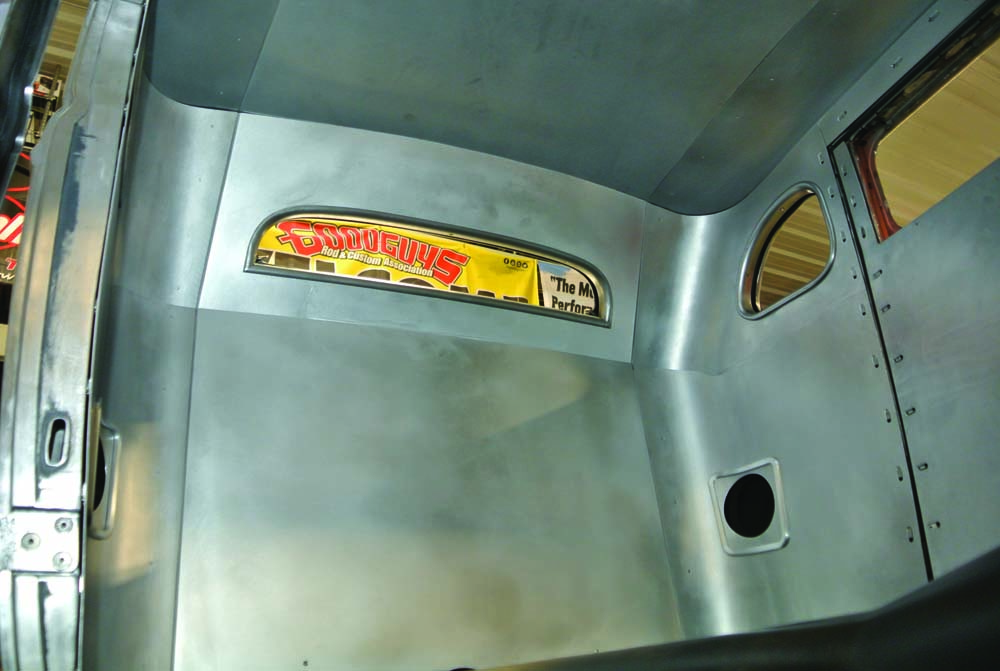 18 BBT Fabrications built these aluminum interior panels_