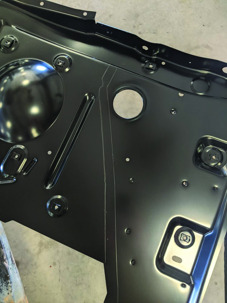 23 Welding surface cleaned up on the 1969 Ford Torino