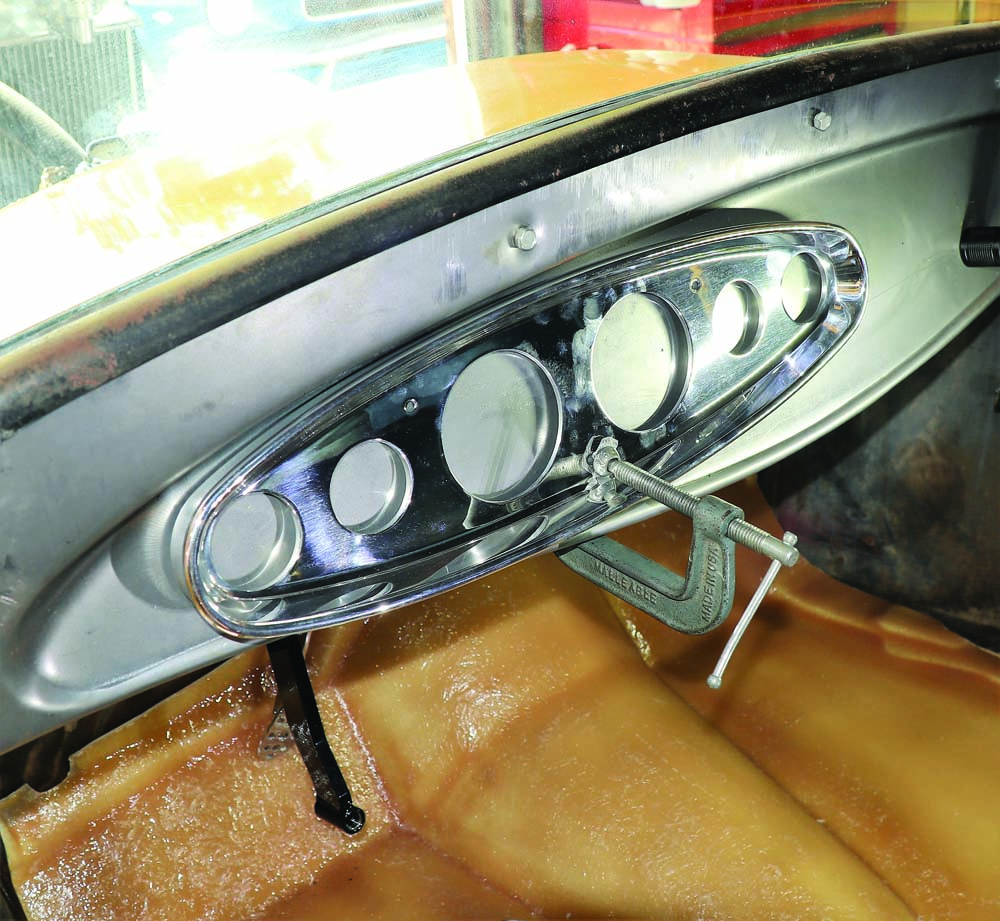 29 Lokar dash cluster from Speedway motors for 1931 Ford Model A