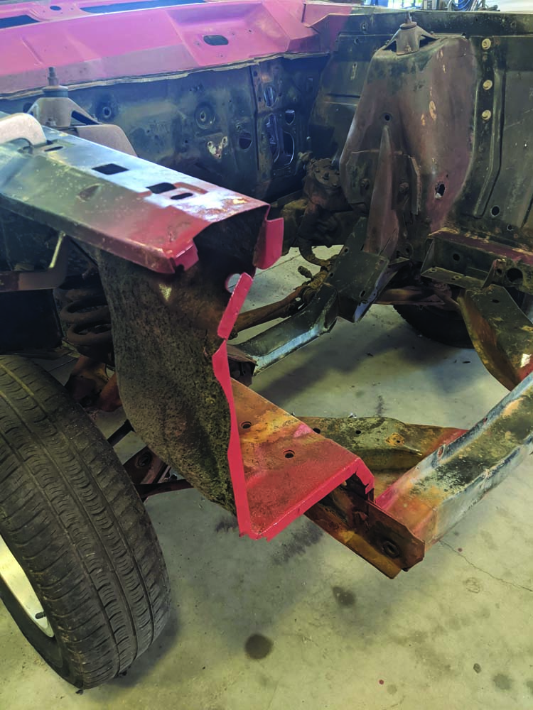 29 Preventing rust and corrosion where the panels meet on the 1969 Ford Torino