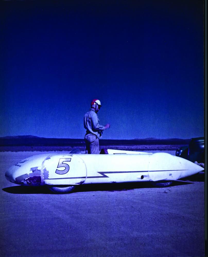 19 So-Cal Speed Shop racecar out at the Bonneville Salt flats